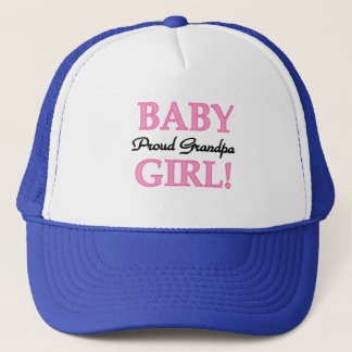 Proud Grandpa Baby Girl T-shirts and Gifts Trucker Hat
