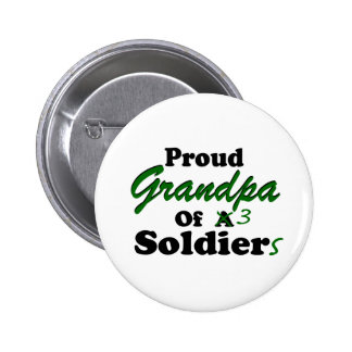 Proud Grandpa Of 3 Soldiers 6 Cm Round Badge