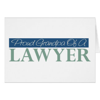 Proud Grandpa Of A Lawyer Greeting Card
