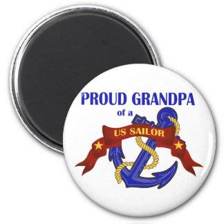 Proud Grandpa of a US Sailor 6 Cm Round Magnet