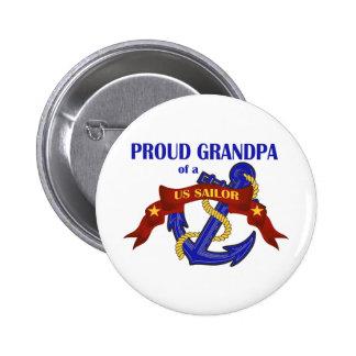 Proud Grandpa of a US Sailor 6 Cm Round Badge