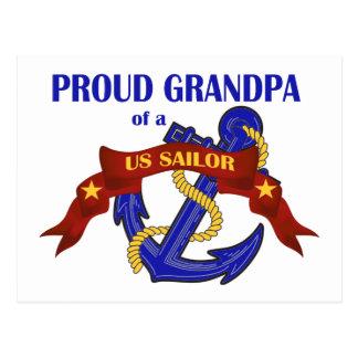 Proud Grandpa of a US Sailor Postcard