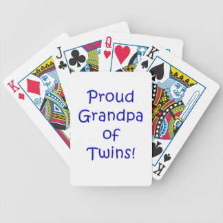 Proud Grandpa of Twins Bicycle Playing Cards