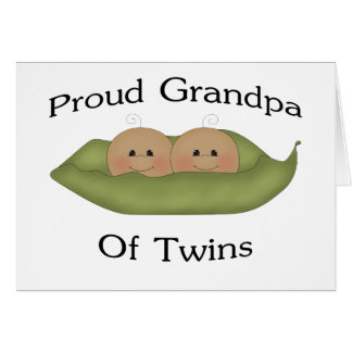 Proud Grandpa Of Twins Cards