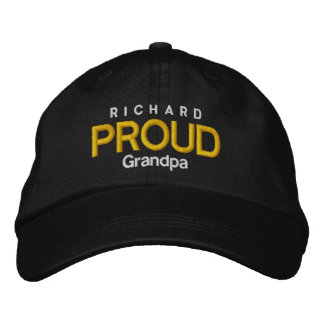 PROUD GRANDPA Personalized Adjustable Hat V06A Embroidered Hat