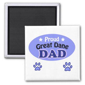 Proud great dane dad square magnet