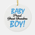 Proud Great Grandma Baby Boy Gifts Christmas Ornament