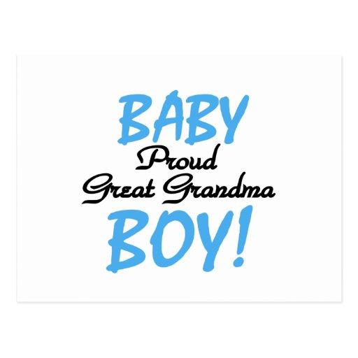 Proud Great Grandma Baby Boy Tshirts and Gifts Postcard