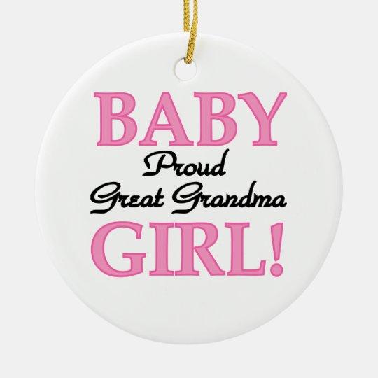 Proud Great Grandma Baby Girl Gifts Christmas Ornament