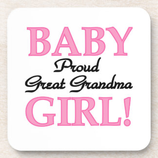 Proud Great Grandma Baby Girl Gifts Coaster