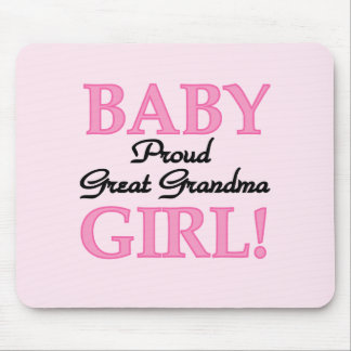 Proud Great Grandma Baby Girl Tshirts and Gifts Mousepads