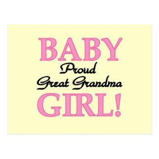Proud Great Grandma Baby Girl Tshirts and Gifts Postcard