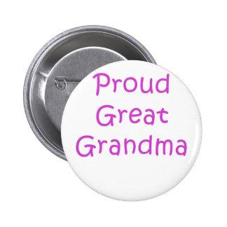 Proud Great Grandma 6 Cm Round Badge