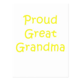 Proud Great Grandma Postcard