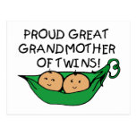 proud Great Grandmother Twin Pod Post Card