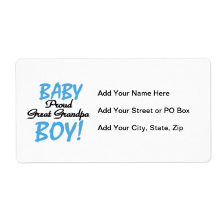 Proud Great Grandpa Baby Boy Gifts Shipping Label