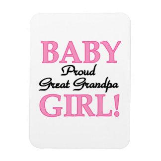 Proud Great Grandpa Baby Girl Gifts Rectangular Photo Magnet
