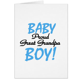 Proud Great Grandpa of Boy Tshirts and Gifts Greeting Card