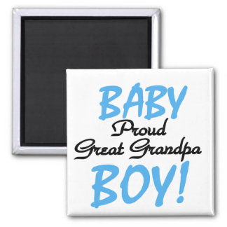 Proud Great Grandpa of Boy Tshirts and Gifts Square Magnet