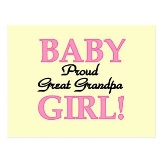 Proud Great Grandpa of Girl T-shirts and Gifts Post Card