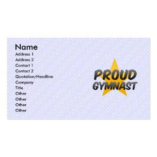Proud Gymnast Business Card Templates
