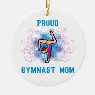 Proud Gymnast Mom Christmas Ornament