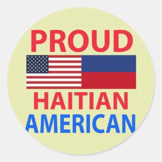 Proud Haitian American Classic Round Sticker