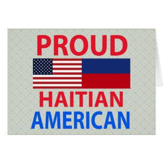 Proud Haitian American Greeting Card