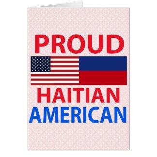 Proud Haitian American Greeting Cards