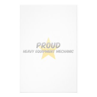 Proud Heavy Equipment Mechanic Personalized Stationery