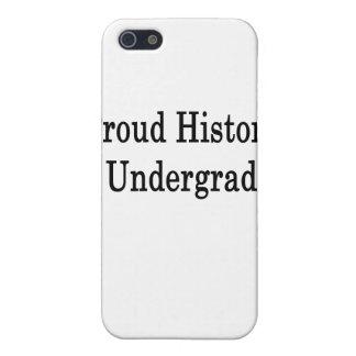 Proud History Undergrad iPhone 5 Cases