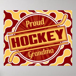Proud Hockey Grandma Poster Print