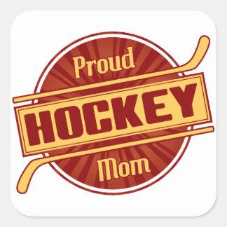 Proud Hockey Mom Square Sticker