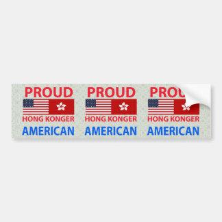 Proud Hong Konger American Bumper Sticker