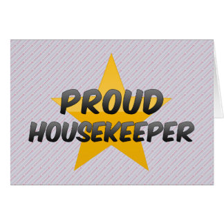 Proud Housekeeper Card
