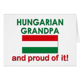 Proud Hungarian Grandpa Greeting Card