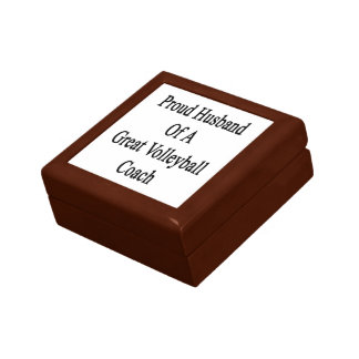 Proud Husband Of A Great Volleyball Coach Small Square Gift Box