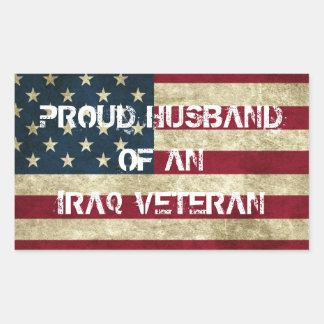 Proud Husband of an Iraq Veteran Sticker