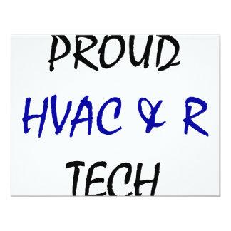 Proud HVAC And R Tech Custom Invitation
