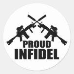 Proud Infidel Round Sticker