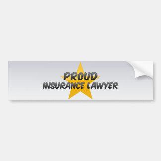 Proud Insurance Lawyer Bumper Stickers