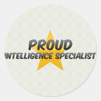 Proud Intelligence Specialist Round Sticker