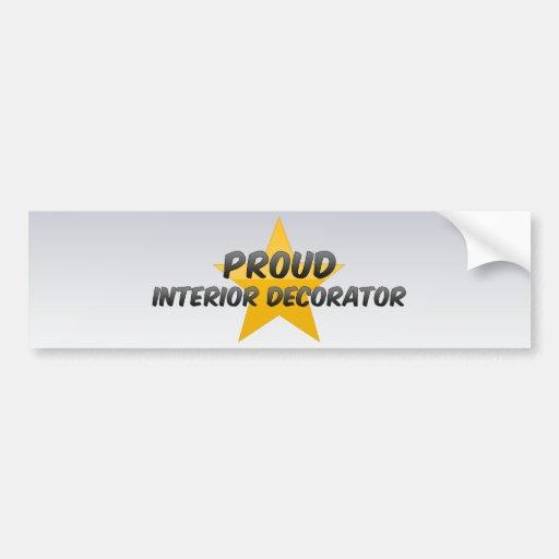 Proud Interior Decorator Bumper Sticker