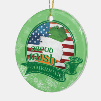 Proud Irish American Christmas Decoration Ornament