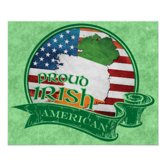 Proud Irish American Poster Print