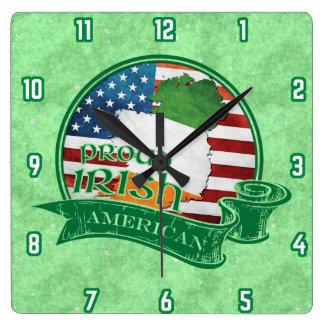 Proud Irish American Wall Clock