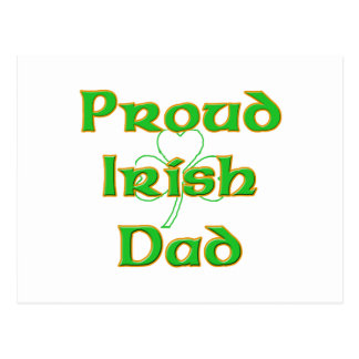 Proud Irish Dad Postcard