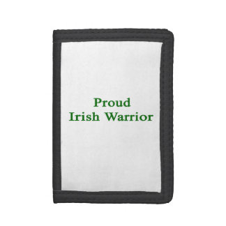 Proud Irish Warrior Trifold Wallets