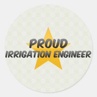 Proud Irrigation Engineer Round Stickers