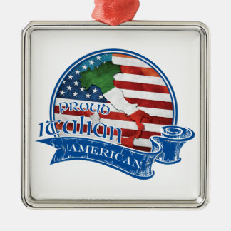 Proud Italian American Christmas Ornament